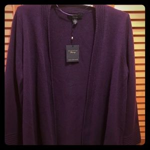 Purple charter club cashmere sweater